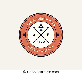 American football gridiron club badge