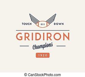 American football gridiron touchdown