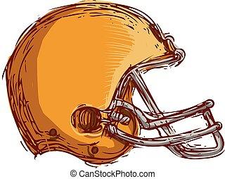 American Football Helmet Drawing