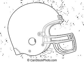 football helmet - American football helmet (outline vector...