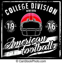 American football Helmet Varsity t shirt graphics vector graphics and typography t-shirt design