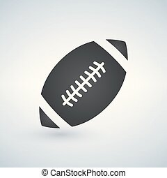 american football icon black isolated on white background