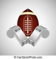American football icon design