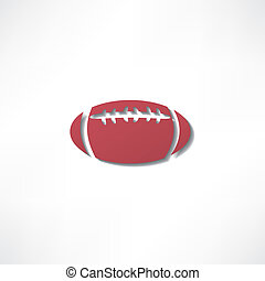 american football icon isolated on white background