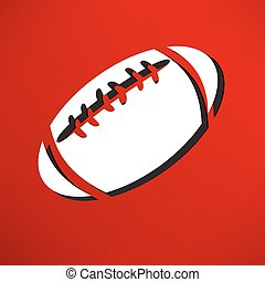 american football icon isolated
