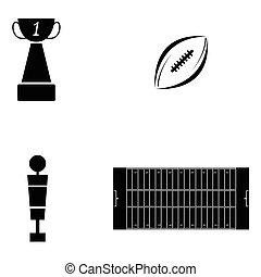 American football icon set