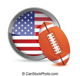 american football illustration design