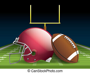 American Football - Illustration of an american football...