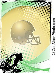 american football - illustration of the helmet