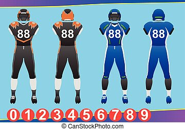 American Football Jersey Illustration