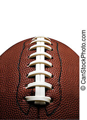 American Football La - Closeup of American football with...