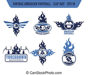 american football label sticker