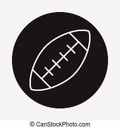 american football line icon
