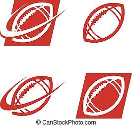 American Football Logo Icons