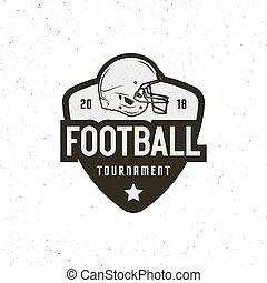 american football logo. sport emblem, badge. vector illustration