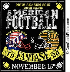 American football Man T shirt Vintage vector print for boy sportswear