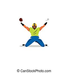 American football man. Vector Illustration.