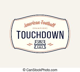American football modern badge