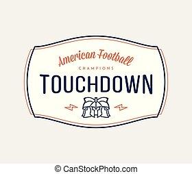 American football modern badge