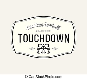 American Football modern badge black on white