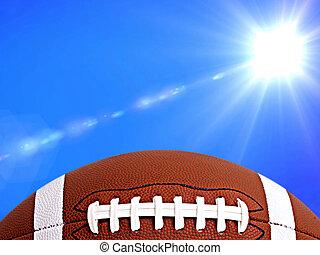 american football  on arena near the 50 yard line.