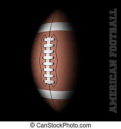 American football on black