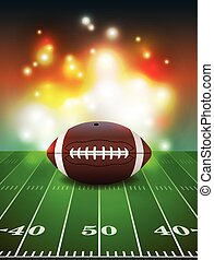 American Football on Field Background - American football on...