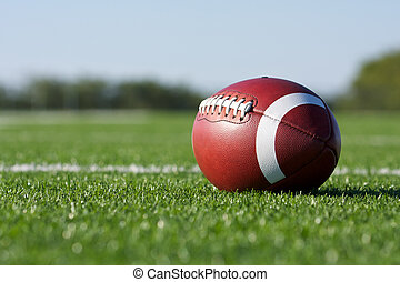 American football on the field - American Football with the...