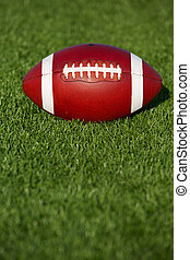 American Football on the Turf with copyspace below