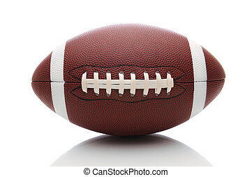 American Football on White - American Football isolated on...