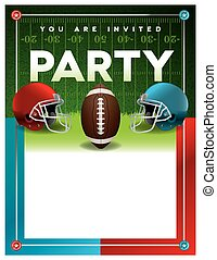 American Football Party Flyer Template