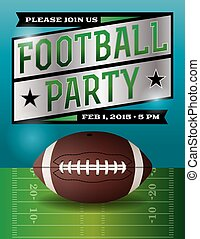 American Football Party Illustration - A football party...
