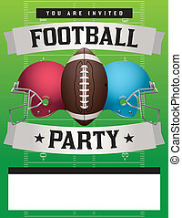 American Football Party Template Illustration - American...