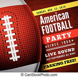 American football party. Vector background