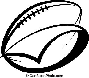 American Football Pennant - Stylized american football with...