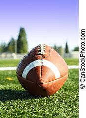 American football - An american football on a football field