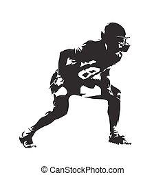 American football player, abstract vector silhouette