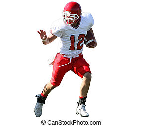 American Football Player - American football game action....