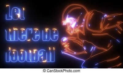 American football player digital animation