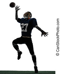 american football player man catching receiving silhouette