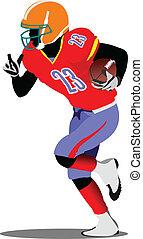American football player s silhoue