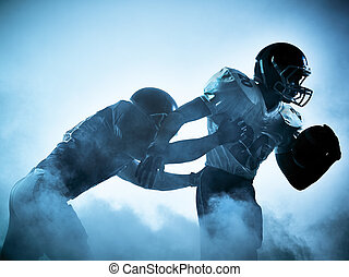 american football player silhouette - one american football...