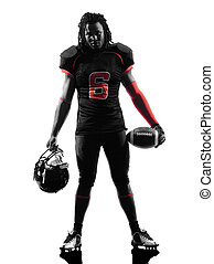 american football player standing silhouette