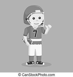 American football player vector illustration design