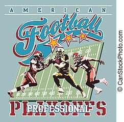 american football playoff - american football sport vector...