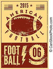 American Football poster.