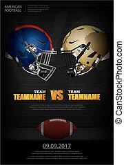 American football Poster Vector Illustration