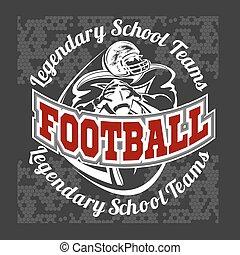 American football - Print for boy sportswear - American...