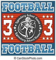 American football - Print for boy sportswear
