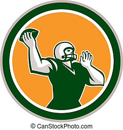 American Football QBThrowing Circle Retro